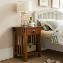 Leick Home 1 Drawer Mission Night Stand with Slat Sides