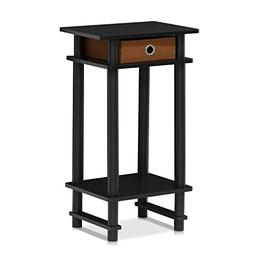 FURINNO 17017EX/BR 17017 Turn-N-Tube End Table, Espresso