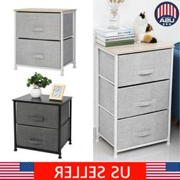 2/3 Drawers Bedside Table Night Stand Storage Unit Cabinet B