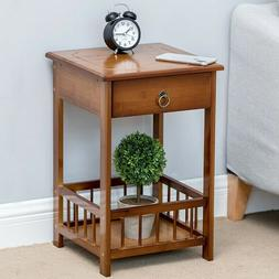 2/3 Layers Retro Nightstand Bedside End Table Bedroom Side S