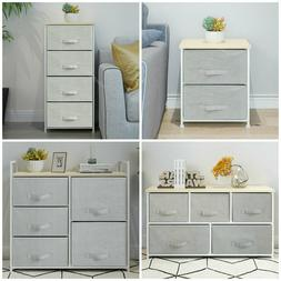 2/4/5 Drawers Bedside Table Night Stand Storage Unit Cabinet