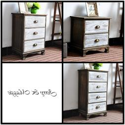 2-4 Tier Polished Side Night Stand Storage Bedside Table wit