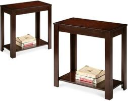 2 NEW Espresso Cappuccino End Bedside Tables Accent Piece
