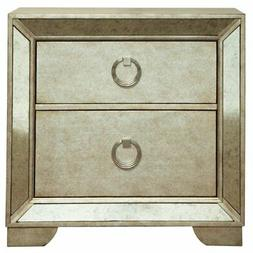 Beaumont Lane 2 Drawer Nightstand in Gold