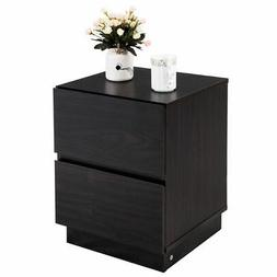 2 Drawers End Table Night Stand Chest Cabinet NightStands Li
