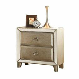 ACME Voeville Antique Gold Nightstand