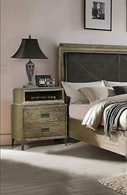 ACME Furniture 23927 Athouman Nightstand with Qi Wireless Ch