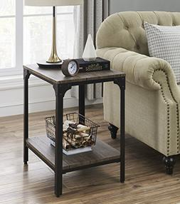 """O&K Furniture 24"""" Height Square End/Side Table/Night Stand"""