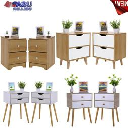 2pcs/1pcs NightStand Bed Sofa Side Table Bedroom Storage Cab