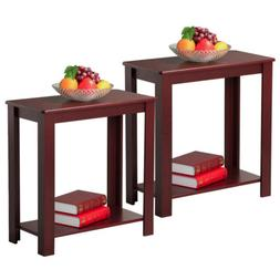 2pcs chair side table narrow end table
