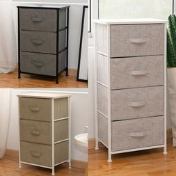 3/4 Drawers Bedside Table Night Stand Storage Unit Cabinet B