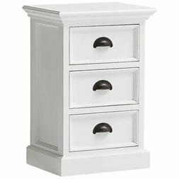 Beaumont Lane 3 Drawer Nightstand in Pure White