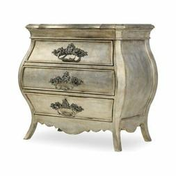 Beaumont Lane 3 Drawer Nightstand in Silver