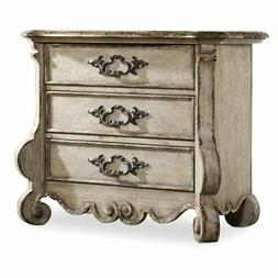 Beaumont Lane 3 Drawer Nightstand in Distressed Vintage Whit