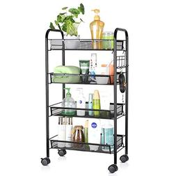 Internet's Best 3 Drawer Storage Rolling Cart | 3 Removable