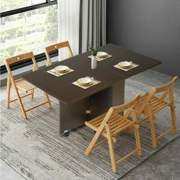 3 in 1 Folding Multifunctional Dining Table with Casters Fur