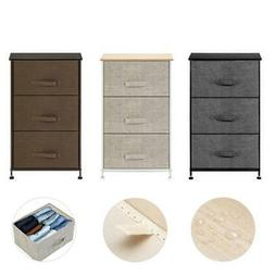 3 Tier Drawer Bedside Table Night Stand Storage Unit Cabinet