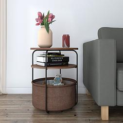 Lifewit Small 3-Tier Round Side Table End Table Nightstand w