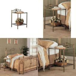 Coaster Home Furnishings 300172 Night Stand in Antique Gold