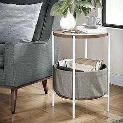 Nathan James 32202 Wood Side Table/Nightstand with Storage,