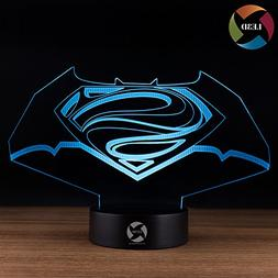 3D Optical Illusion Night Light - 7 LED Color Changing Lamp
