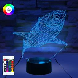 3D Remote Night Stand Light Led Lamp Optical Illusion 7 Colo