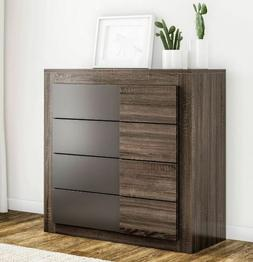4 High Drawer Dresser Bedroom Night Stand Chest Storage Home