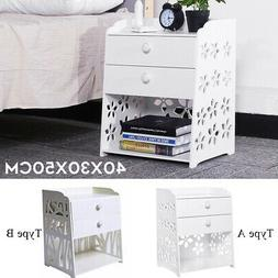4 Layer Night Stand Bedroom Bedside Table Rack Cabinet Home
