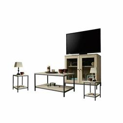 4 Piece Living Room Set with Coffee Table and TV Stand with