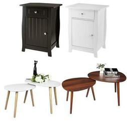 4 Types Nightstand Bedroom Bedside Table Night Stand Cabinet