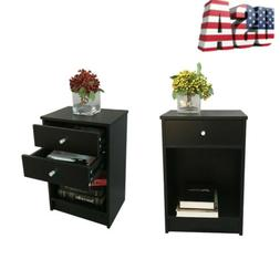 40 x 30 x 60cm Round Handle Night Stand Desk Bedside Table w
