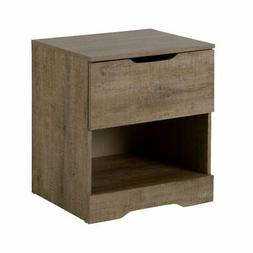 South Shore 9075062 Holland 1-Drawer Nightstand Weathered Oa
