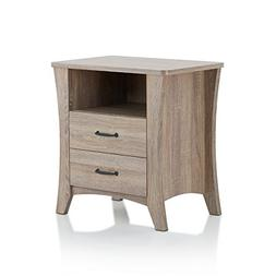 Acme Furniture 97262 Colt Nightstand, Rustic Natural, One Si