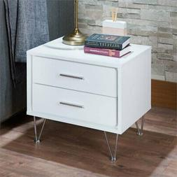 Acme Furniture 97332 Deoss Nightstand, One Size, White