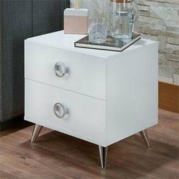 Acme Furniture 97334 Elms Nightstand, One Size, White