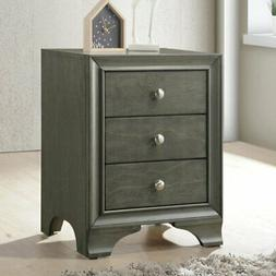 Acme Furniture 97494 Blaise Nightstand with 3 Drawers and US
