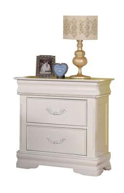 ACME 30129 Classique Nightstand with Hidden Drawer, White