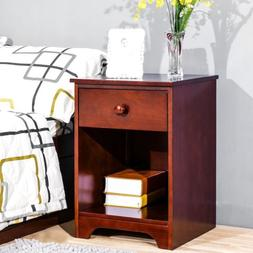 Bedroom Furniture Wooden  Night Stand  with Storage Shelf an