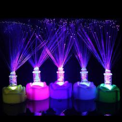 Color Changing LED Fiber Optic Night Light Lamp Stand Home D