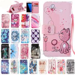 Cute Leather Wallet Cards Strap Flip Case Stand Cover For Sa