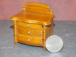 Dollhouse Miniature Night Stand Triple Drawer 1:12 inch scal