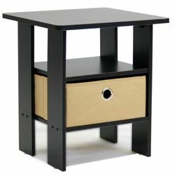 Espresso Night Stand Bedroom Nightstand Bed Side End Table W