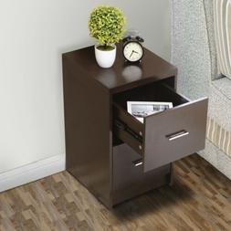 Espresso Storage Cabinet with 2 Drawers Lateral Letter For H