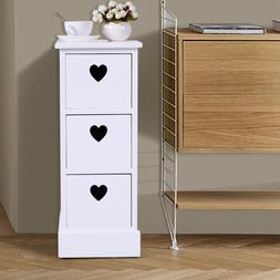 Fully Assembled Night Stand 3 Drawers Storage Shelf Organize