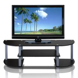 Furinno 11058BK/GY Turn-S-Tube Wide TV Entertainment Center,