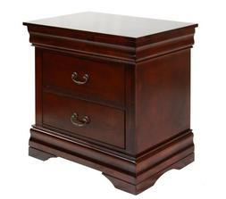 Furniture of America Summerville 2-Drawer Nightstand, Dark C