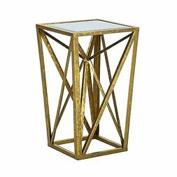 Madison Park Zee Accent Tables - Mirror Glass, Metal Side Ta