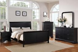 Poundex Louis Phillipe Bedroom Set Featuring French Style Sl
