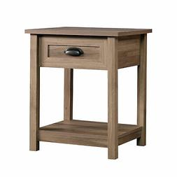 "Sauder 417771 County Line Side Table/Night Stand L: 19.84"" x"