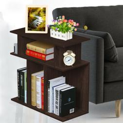 Small Accent Tables End Table With Storage Espresso Side Nig